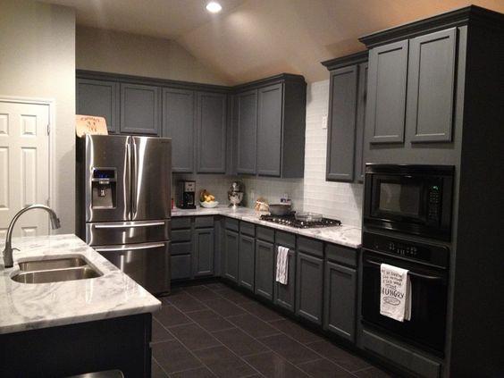 Web Gray Sherwin Williams Cabinets | Kitchens | Pinterest ...