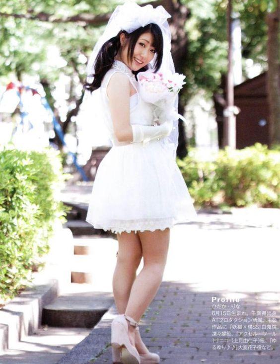 ウェディングドレス姿の日高里菜さん