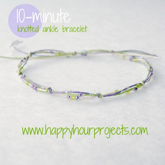 Ten-Minute Knotted Ankle Bracelet