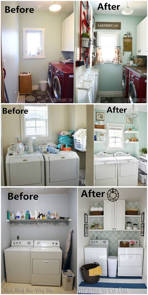 Get inspired to give your laundry room a makeover. #laundryroom