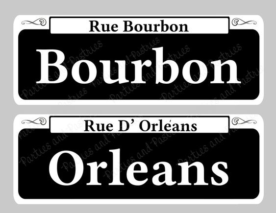 New Orleans Signs New Orleans Street Sign By Partiesandpastries Mardi Gras Centerpieces Mardi Gras Decorations Mardi Gras