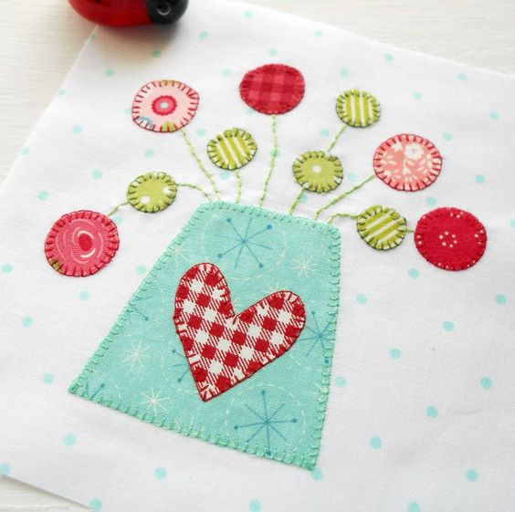 The Splendid Sampler Block no. 4 - Happy Happy.  Designed by Jen Kingwell - loved by the Patchsmith.