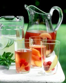 Moscato Punch.: Happy Hour, Martha Stewart Recipes, Summer Drinks, Recipes Beverages Cocktails, Wine Punch, Punch Recipes, Rose Wine, Sangria Recipes