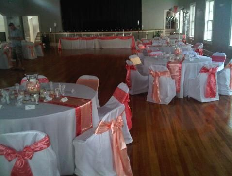 Table Linens For A Beach Wedding | Women S Club New Smyrna Beach Fl Guava  Coral And | Wedding Ideas | Pinterest | Wedding Dj, Beach Weddings And  Weddings
