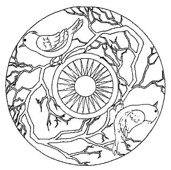 Mandala Kleurplaten Mandala Zwart Wit Pinterest