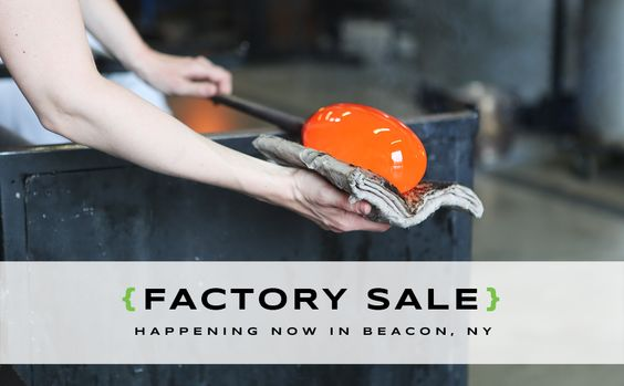 We had such a blast at the first day of our Factory Sale yesterday that now we're going to do it again! Today is the final day to get 50-80% off seconds and samples at our factory in Beacon, New York. You'll have the opportunity to witness the marvels of glass-blowing up-close, meet Team Niche, and enjoy light refreshments. Come hang out!  http://www.nichemodern.com/blog/factory-sale-2/day-2-of-our-factory-sale-is-here/