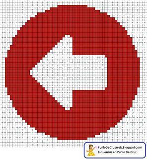 señales de direccion en punto de cruz