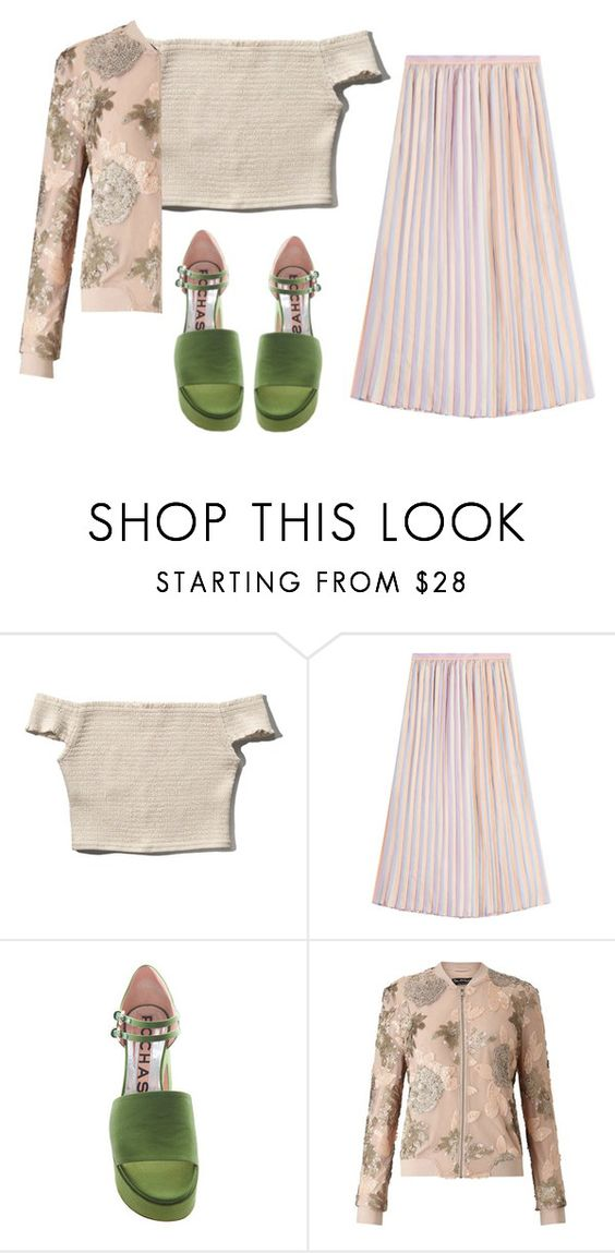 """summer rain"" by redapplecigarettes ❤ liked on Polyvore featuring Abercrombie & Fitch, Marco de Vincenzo, Rochas, Miss Selfridge and bomberjackets"