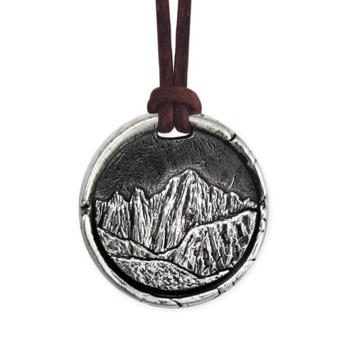 Mount Whitney Necklace |  Pennyroyal Studio #mtwhitney #mountwhitney #jewelry #necklace #mountain #summit #hiking #silver #handmadejewelry #pennyroyal #gifts #giftideas