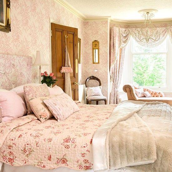 Blassrosa und Cremeblumen Schlafzimmer Wohnideen Living Ideas