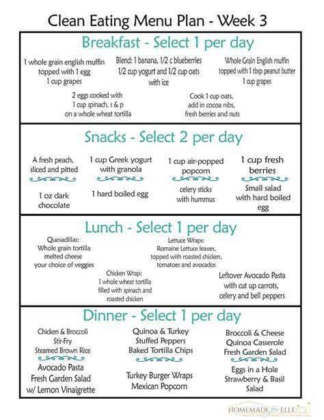 Clean Eating Meal Plan Pdf With Recipes Your Family Will Love Clean Eating Menu Free Clean Eating Meal Plan Clean Eating Diet Plan