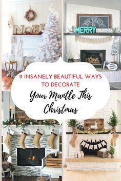 Christmas, Christmas decor, Decorate Your Mantle, Christmas mantle, DIY, holiday decor, popular pin