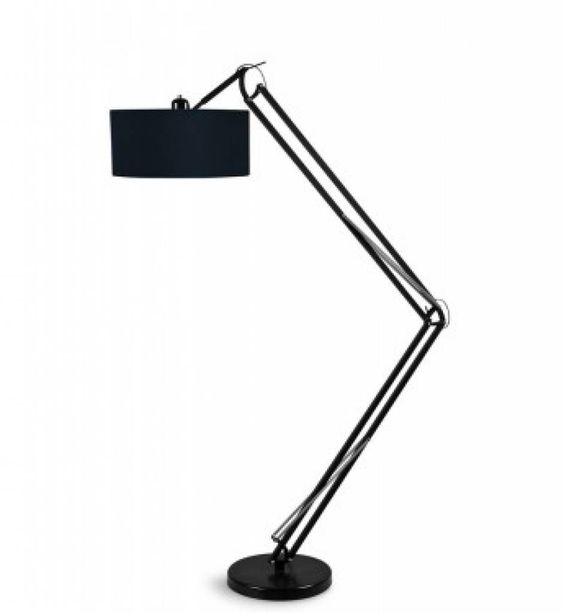 Its About RoMi Milano vloerlamp   Zwart @designwonen