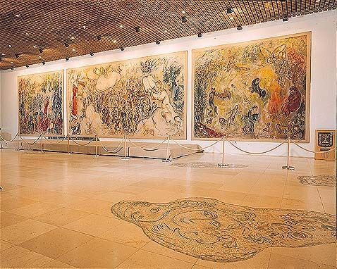 Johan Persyn Amazing Star Marketing Marc Chagall's Bijbelse Taferelen in de Knesset Jeruzalem