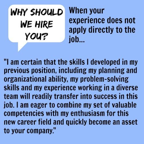Why Should We Hire You Job Advice Interview Skills Job Interview Advice