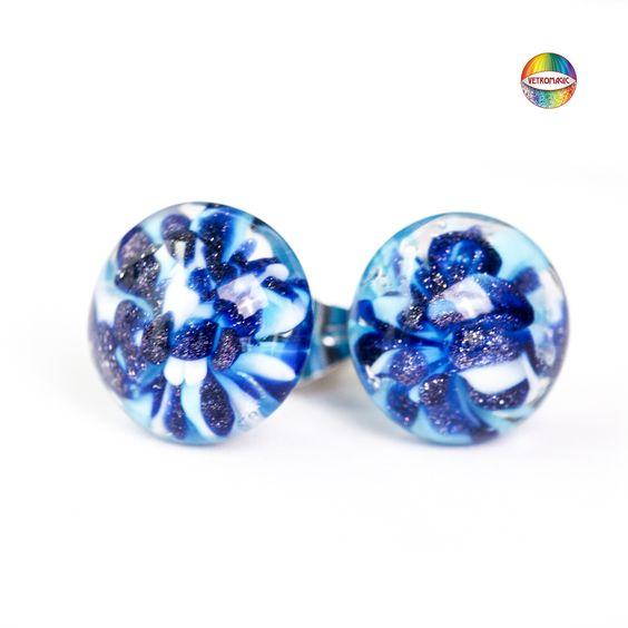 Avventurina blue - blaues Aventurin - glass frit - Glas Fritten COE 104 - AK 104 www.vetromagic.com
