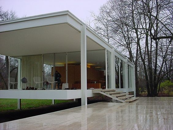 Mies - Inspiração www.casaecia.arq.br - cursos on line de Design de Interiores e Paisagismo.