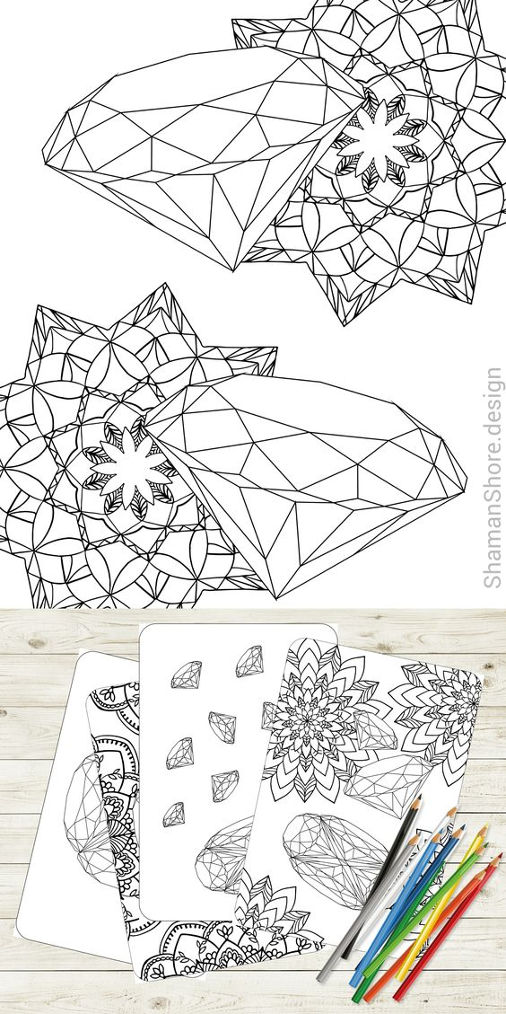 Gems Coloring Page Coloring Pages Gold Drawing Gem Drawing