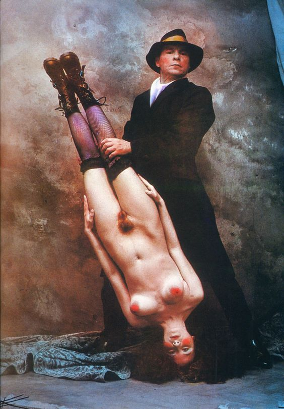 Merchants of white meat, 1997, by Jan Saudek: