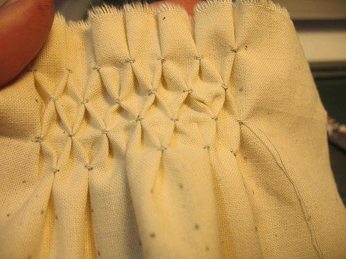 Honeycomb smocking - for the smocked curtains