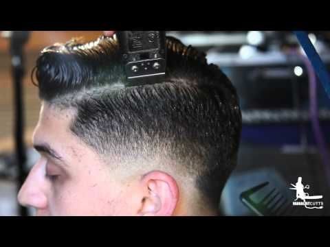 How to Cut a Pompadour Haircut Tutorial- Video on cutting and styling a Quiff/Pompadour Hairstyle - YouTube