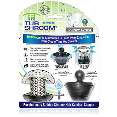 Tubshroom Ultra Revolutionary Bath Tub Drain Protector Hair