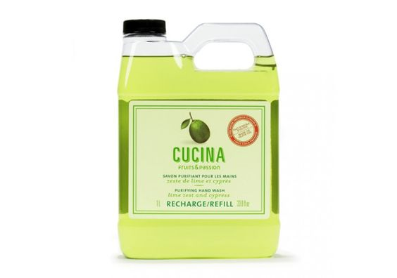 Fruits & Passion Cucina Hand Soap in Lime Zest & Cypress (1L Refill)
