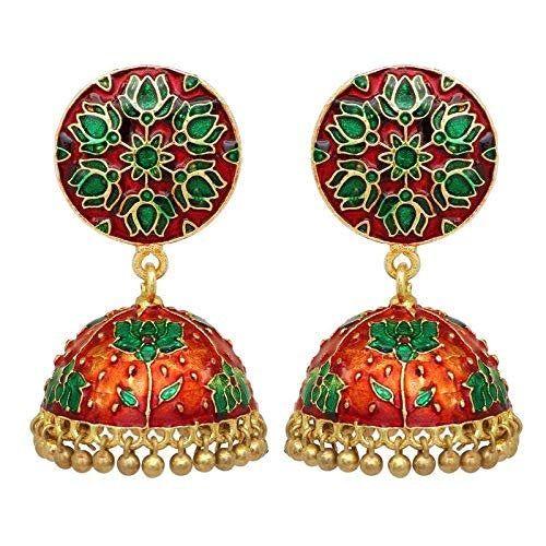 Indian Tribal Banjara Multicolor Big Round Jhumka Earrings Party wear Earrings