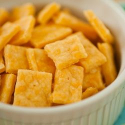 Salty and bursting with cheddar. Homemade Cheez-It crackers!