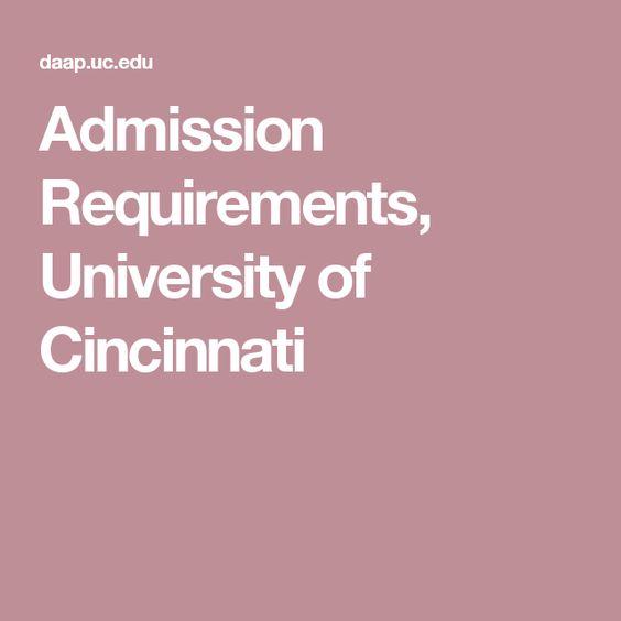 Admission Requirements University Of Cincinnati
