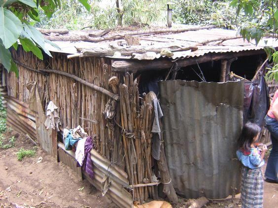 The house of a Guatemalan family:http://media-cache-ak0.pinimg.com/originals/62/7e/96/627e963ff26948b4125b84102fa5bc41.jpg
