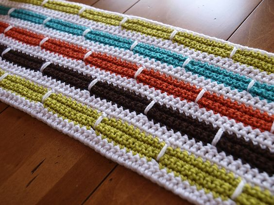 Ravelry: Crochet Stripe Blanket ~ free  pattern by Bernat Design Studio