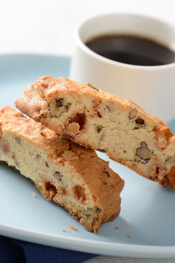 Butter Pecan Biscotti Recipe tastes just as good if you substitute the butterscotch and pecans for other nuts, coconut, or seeds