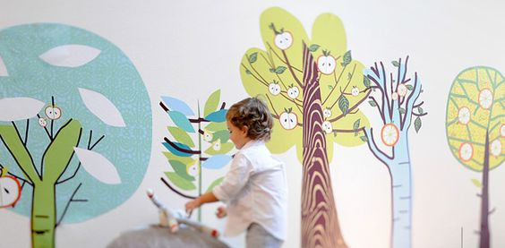 Eclectic Tree Wall Decals from @Pop & Lolli Fabric Eco Friendly Wall Decals are a great addition to the #nursery or children's room!