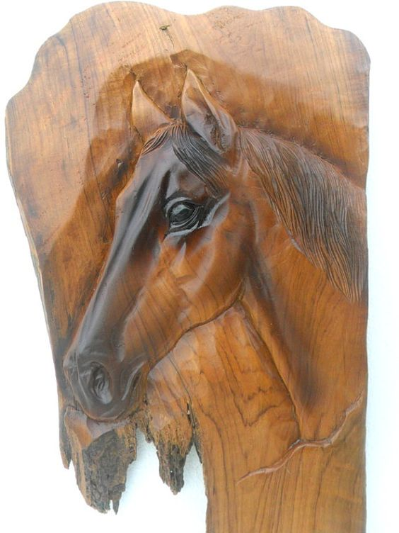 Horse head wood carvings and teak on pinterest