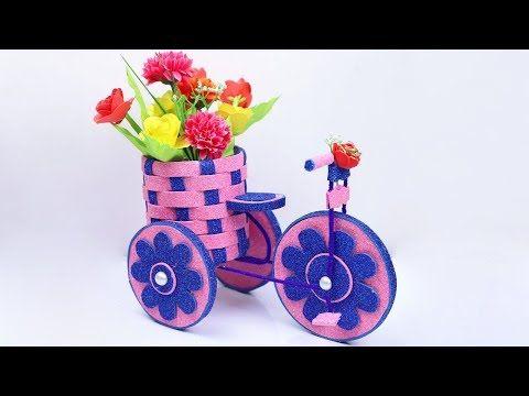 Diy Cycle Decorative Showpiece Idea Tutorial Bike With Beautiful