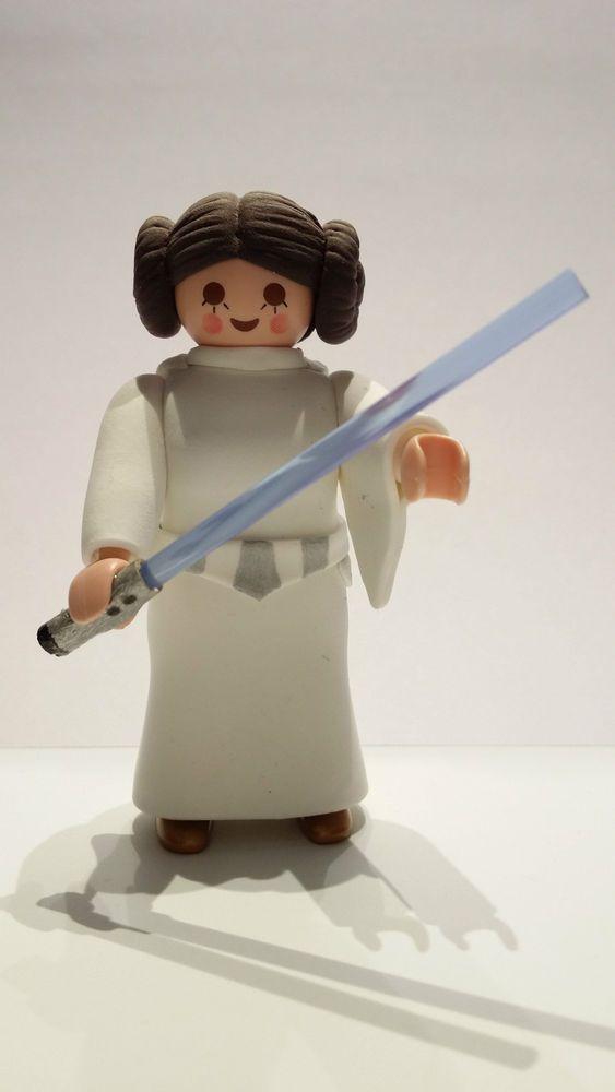 FIGURA CUSTOM Star Wars Princesa Leia - PLAYMOBIL CUSTOM