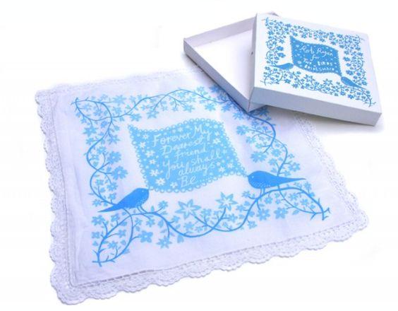 Rob Ryan for Two Birds Bridesmaid screenprinted handkerchief, £35