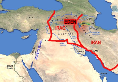 Garden Of Eden Its Location At The Source Of The Tigris