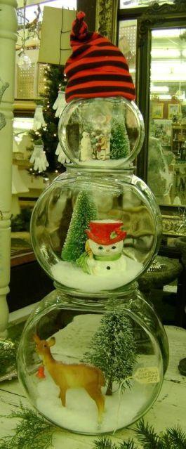 weihnachten ansichstkarte basteln deko schneemann ideen