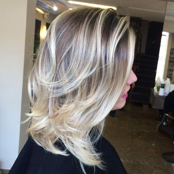 Medium Brown Blonde Hairstyle