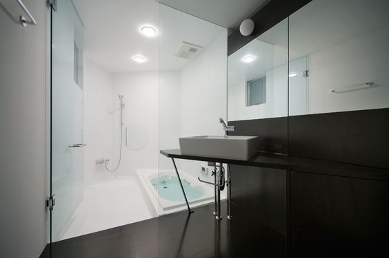 black ply bathroom japan