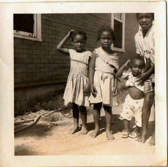 Antique Vintage Photograph Adorable African American Children Great Outfits
