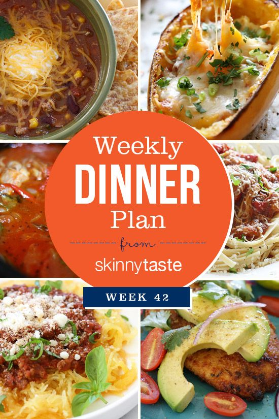 Skinnytaste Dinner Plan (Week 42) - http://food.moodious.com/skinnytaste-dinner-plan-week-42/