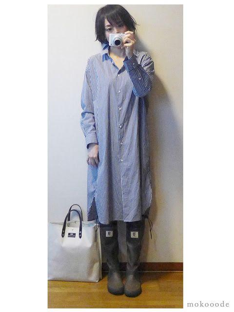 ユニクロシャツワンピはワンマイルウェア コーデ 2月22日 ウェア ファッション 衣類