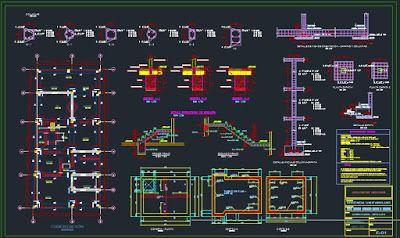 Expediente Técnico De Una Vivienda Unifamiliar Plano Estructural Plano De Escalera De Caracol Planos Plano Escalera