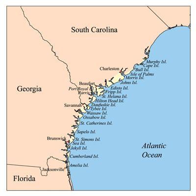 map of georgia beaches | Hilton Head Maps, Maps of Hilton ...