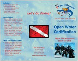 Learn to scuba dive with The Dive Shack. Come blow bubbles with us.