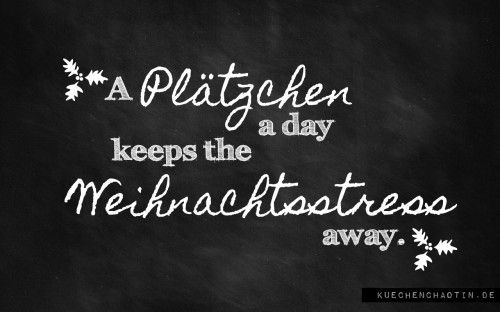 A Plaetzchen a day keeps the Doctor away