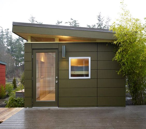 Comtempory office sheds mur modern prefab homes for Modern prefab garage